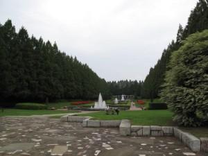 相模原公園のフランス式庭園全景